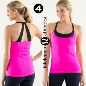 Lululemon Raspberry Scoop Me Up Tank Buil in Bra
